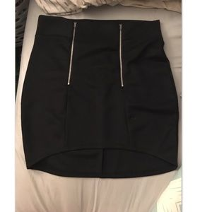 Black Forever 21 skirt w/ zippers